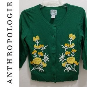 ANTHRO 'Tabitha' Green Cardigan